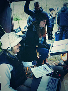 Amanda directing Arctic Air
